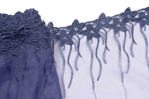 Navy blue Embroidered lace