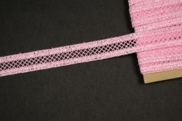 Narrow pink guipure lace trim