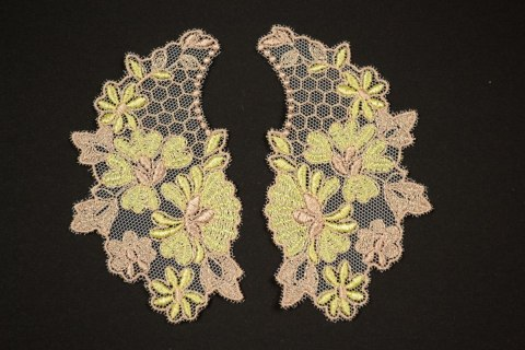 Embroidered appliques 2pairs