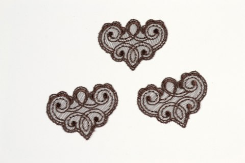 Brwon Embroidered applique