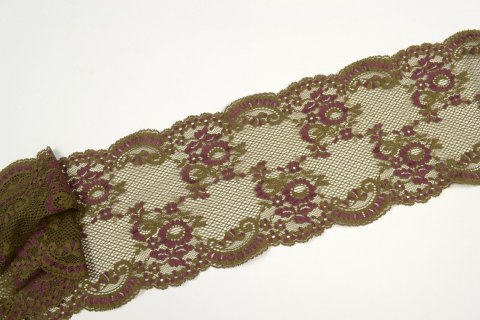 Stretch lace trim