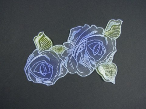 Embroideres appliques flowers pattern