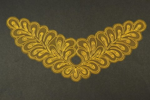 Embroidered appliques in gold colour 2pcs.