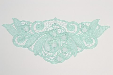 Mint Guipure applique