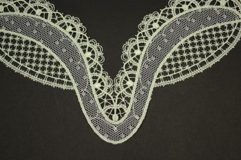 Embroidered applique on tulle 2pcs