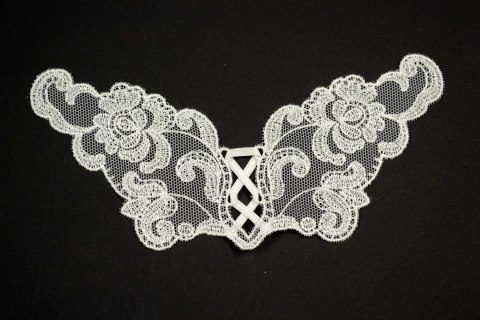 Creme Embroidered applique