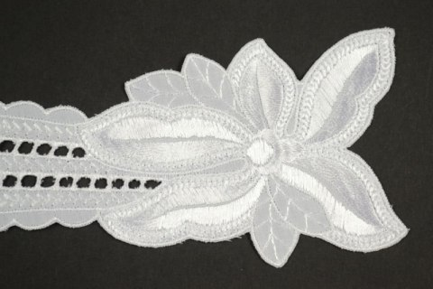 White Embroidered applique