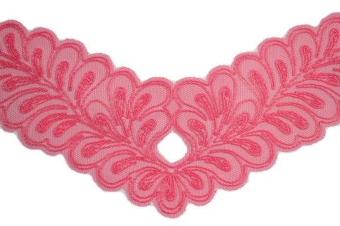Embroidered applique on tulle 2pcs.