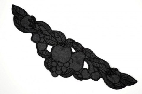 Sateen appliques black colour
