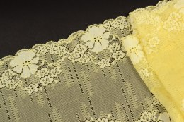 Yellow stretch lace trim