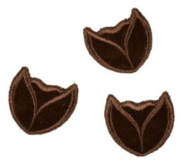 Velvet brown appligue 4pcs.