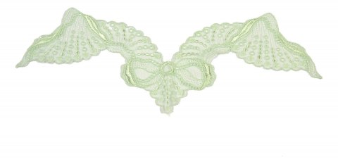 Mint Embroidered appliques on tulle