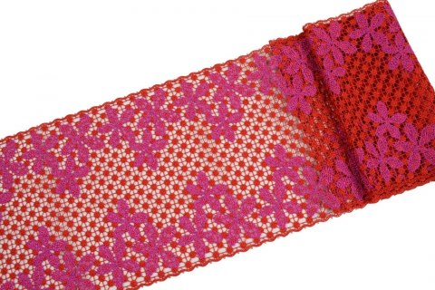 Wide guipure lace trim