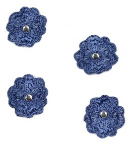 Embroidered appliques with grains