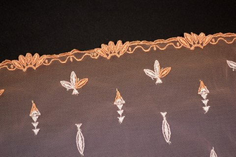 Stretch Embroidered lace ombre effect