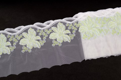 Stretch Embroidered lace on tulle