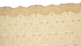 Embroidered lace in beige/nude color