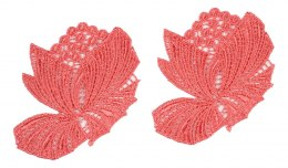 Guipure appliques in corak color 2pcs.