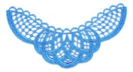 Guipure appliques in blue color 2pcs.