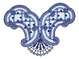 Embroidery applique on tulle