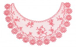 Pink Embroidered appligue on tulle