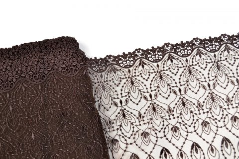 Elegant brown embroidery in flowers